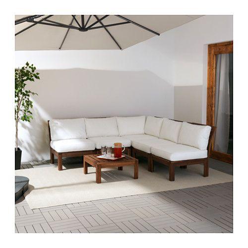 Pplar kungs divano angolare 3 2 da esterno ikea for Divani da giardino ikea