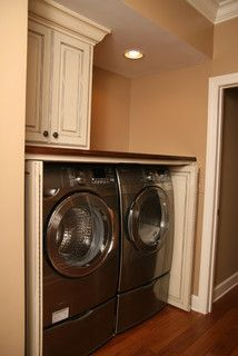Hardware For Bifold Pocket Doors To Hide Laundry In A Bathroom Combo