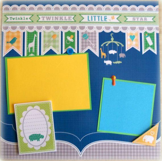 Baby Boy Premade 12x12 Scrapbook Page Layout By Lovethatscrap 800