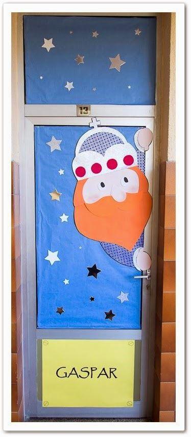 Manualidades decoraci n puertas pinterest los tres for Decoracion para reyes