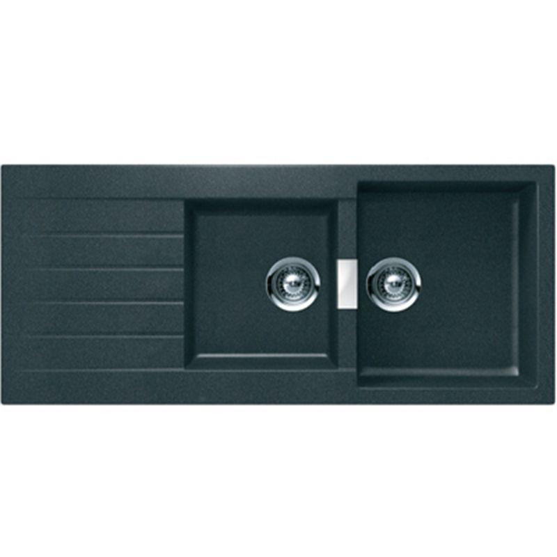 Sink Schock Abey 1.75 Bwl Black Granite D200b - Bunnings Warehouse ...