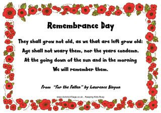 Remembrance Day Poems Read Online Or Print And Some