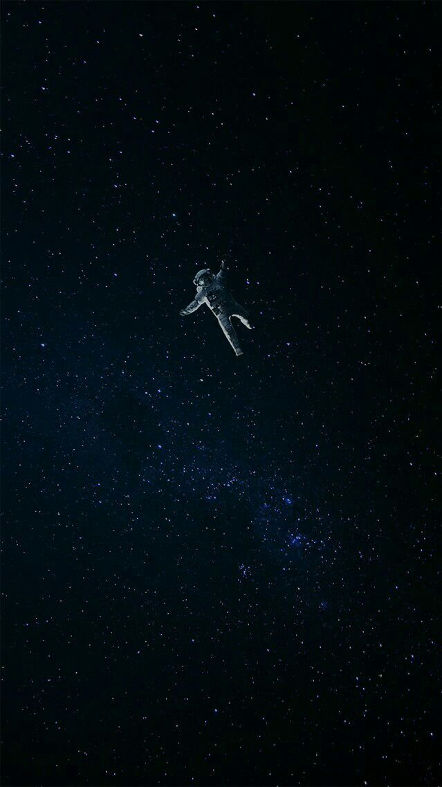 Lost astronaut in space iphone wallpaper wallpapers - Black space wallpaper ...