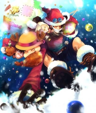 Ace And Luffy Merry Christmas แฟนพ นธ แท อะน เมะ