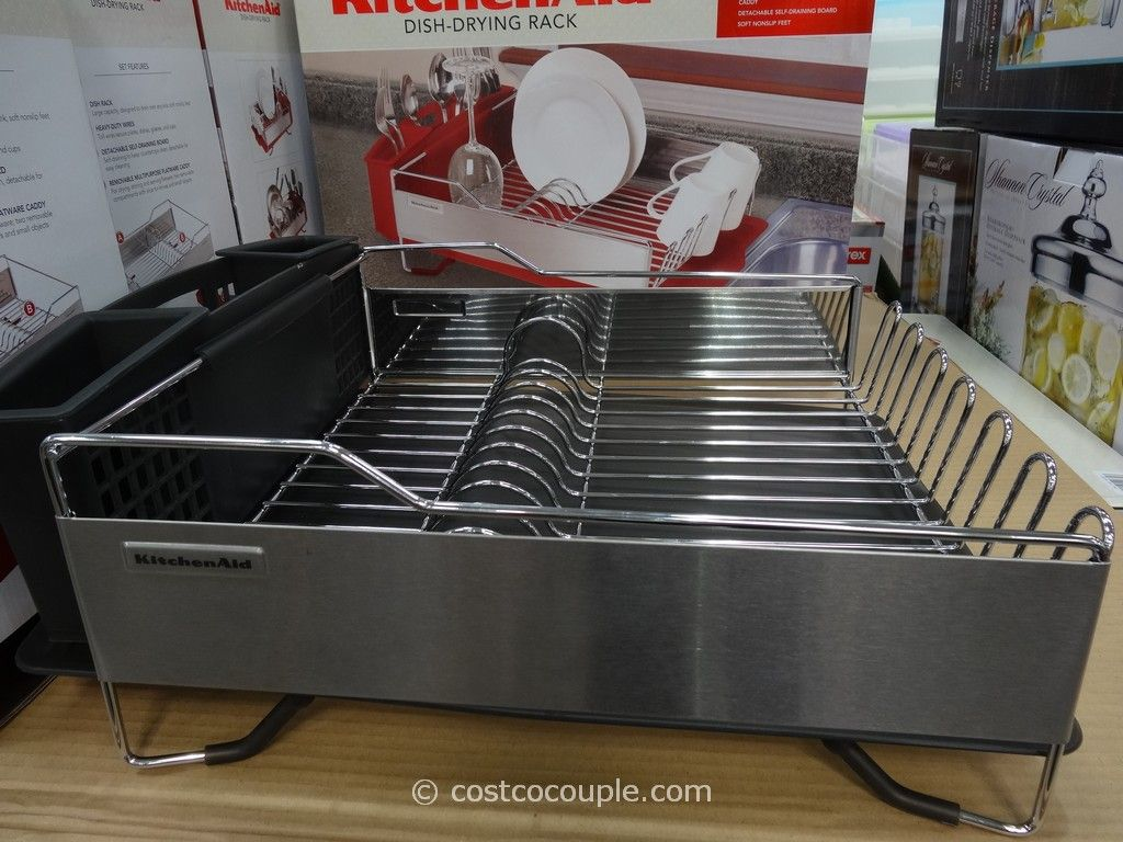 Extra Large Dish Drying Rack Entrancing Kitchenaidstainlesssteeldishdryingrackcostco5  Dish Inspiration