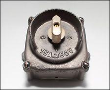 Vintage British Cast Iron Rotary Light Switch Retro Antique Steampunk Lighting Light Switch Old Lights