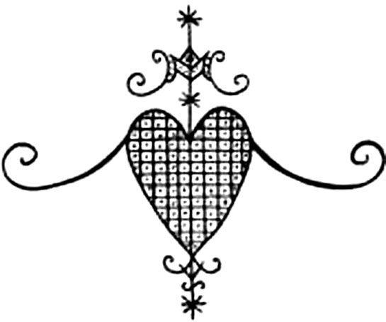 Erzulie Veve Haitian Vodou Symbols Pinterest Voodoo Symbols