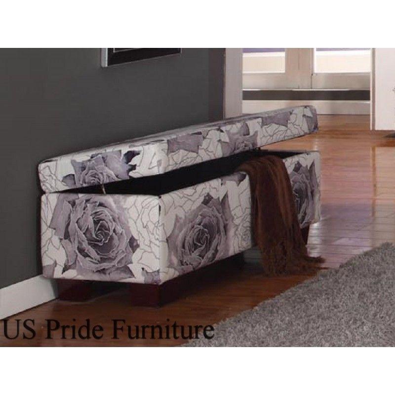 Enjoyable B8034 Light Purple Fabric Storage Ottoman Home Schrank Creativecarmelina Interior Chair Design Creativecarmelinacom
