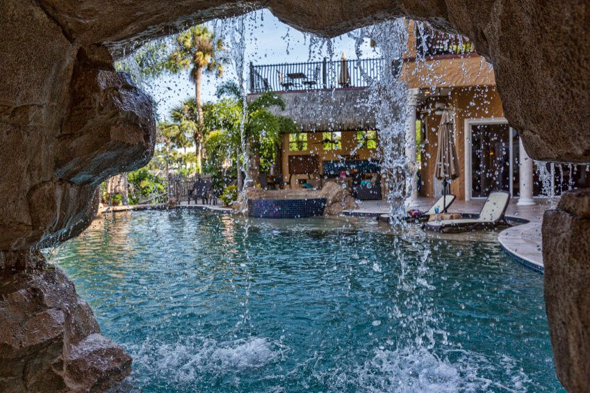 80 Fabulous Swimming Pools With Waterfalls Pictures Pool