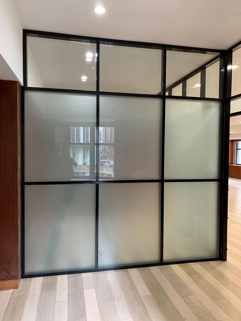 Frosted Glass Partition For Medical Office Glass Office Partitions Glass Partition Wall Glass Room Divider
