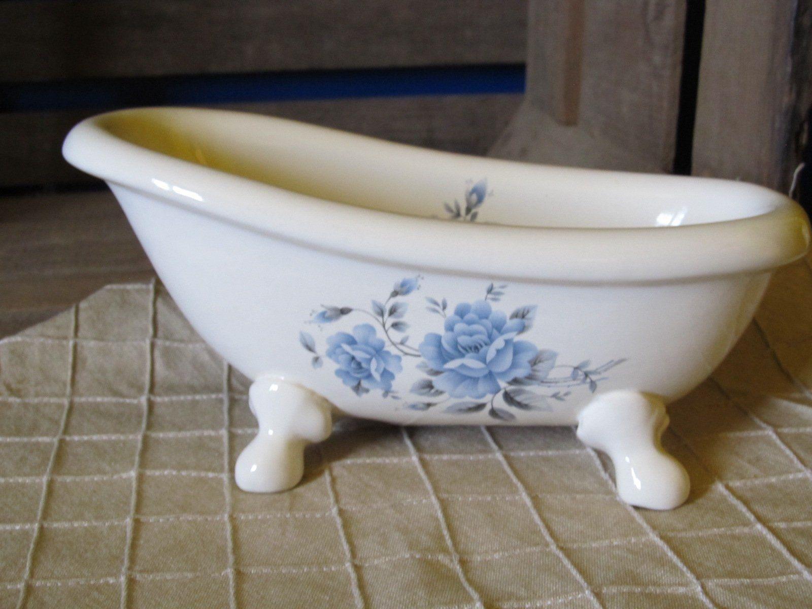 Vintage Athena Ceramic Claw Foot Bath Tub Bathtub Soap Dish Clawfoot Claw Foot Bath Vintage