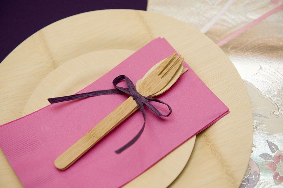 bamboo plates and cutlery liv sweet pinterest wedding