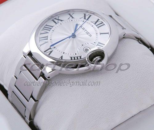 Fake Ballon Bleu de Cartier Stainless Steel Date Large Quartz Mens Watch Detail Picture