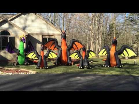 gemmy airblown inflatable dragons
