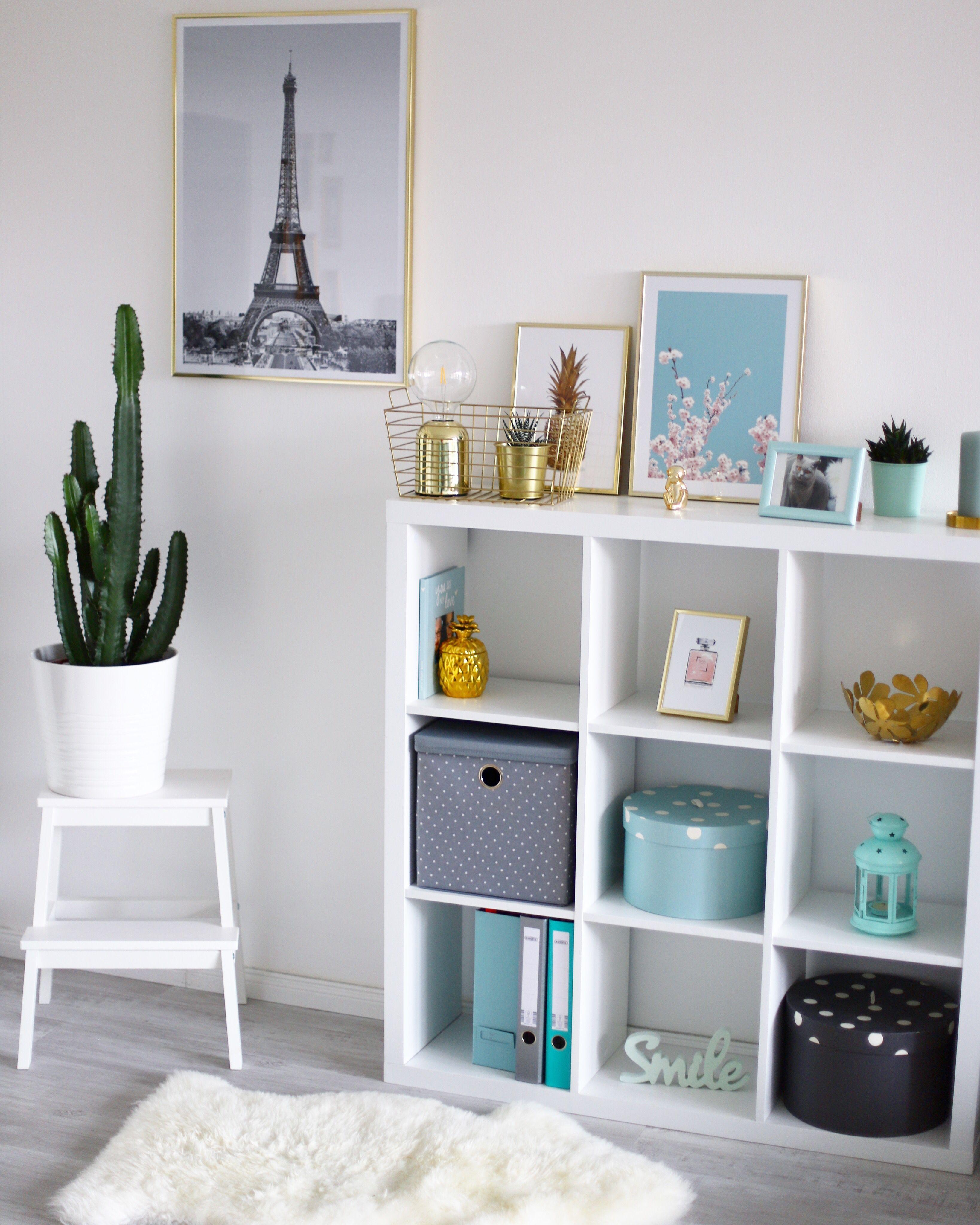 Ikea Kallax Hack Regal Desenio Bilder Poster Mint Pastell Inneneinrichtung Innenarchitektur Wohnzimmer Regal