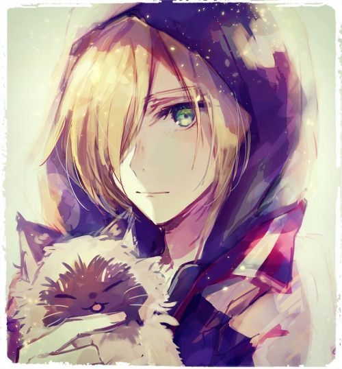 Just for love (Yuri Plisetsky x reader)  - Look, im a kitty cat