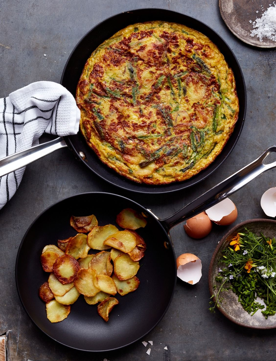 Asparagus and Spring Onion Tortilla