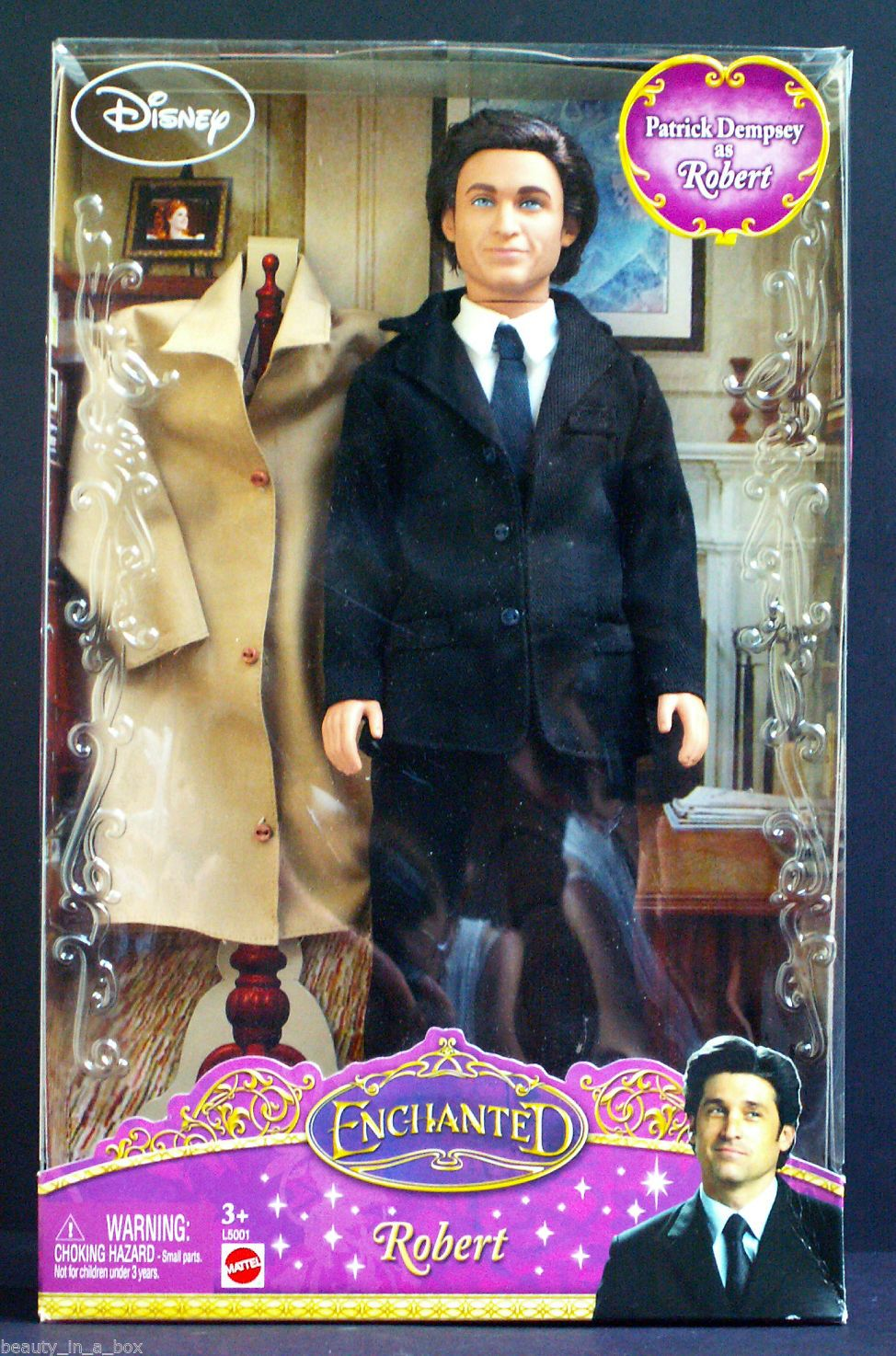 Enchanted Giselle Doll Robert Amy Adams Patrick Dempsey Disney