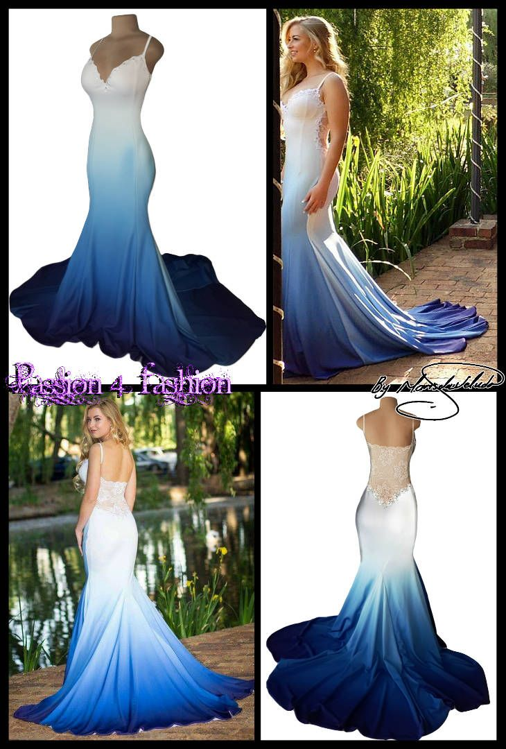 Image result for off the shoulder dress ombre ice blue to white