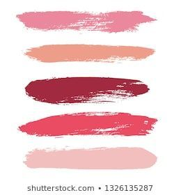 Photo of Makeup strokes, Beauty and cosmetic nude brush stains vector background. smear m…