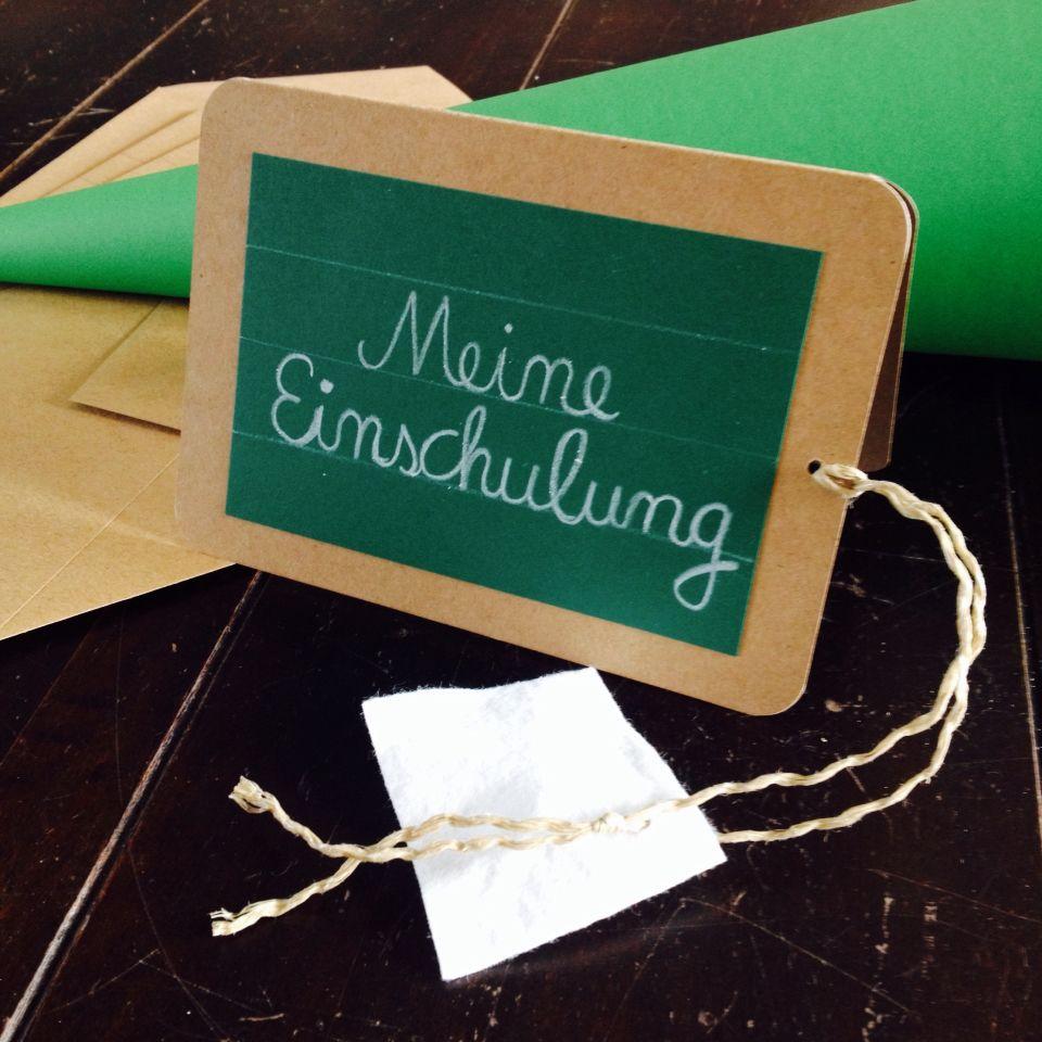 Einladungskarte zur Einschulung von www.MelliMel.de #Einschulung ... - Schulanfang Einladungskarten