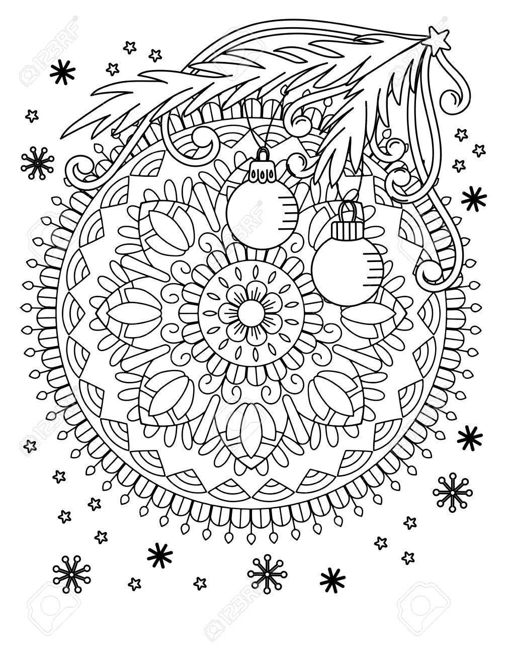 Large Mandala Coloring Pages Mandala Coloringk For Adults Image Inspirations Christmas Mandala Coloring Books Coloring Pages Printable Coloring Pages