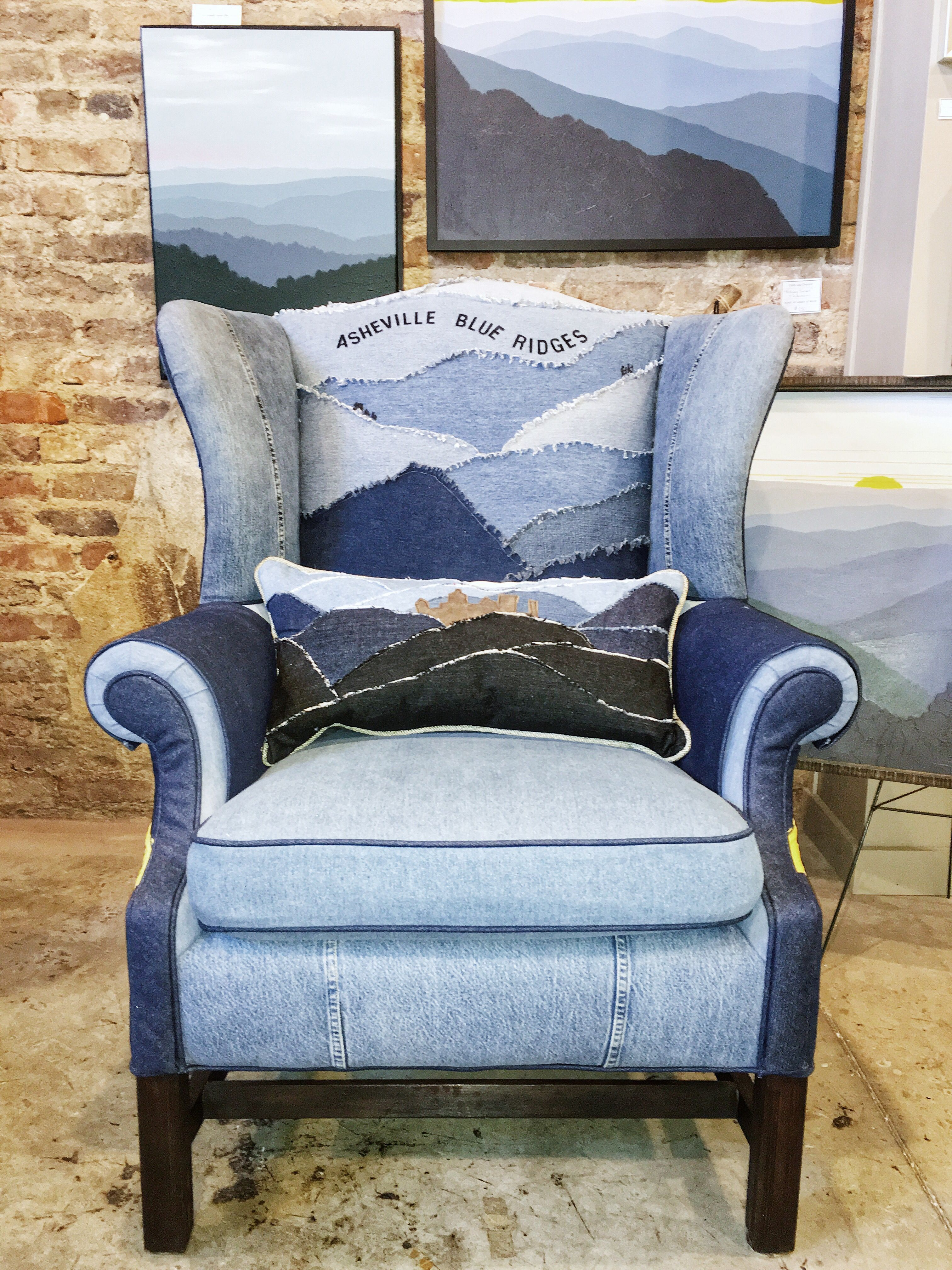 Merveilleux Made With Recycled Blue Jeans, Each Blue Ridge Chair Is Created With Layers  Of Shades