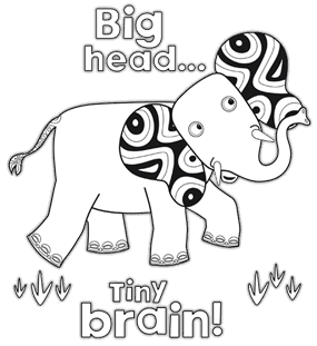 Tinga tinga tales elephant colouring page cookie for Tinga tinga coloring pages