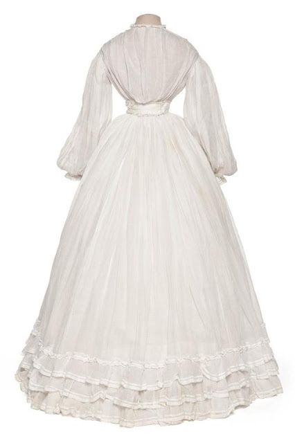 """Wedding dress"" (Summer dress), ca. 1862 France. | In the Swan's Shadow"
