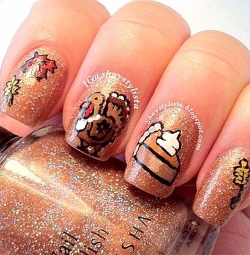 18 Thanksgiving Nail Art Ideas Fashion Diva Design Nail Art