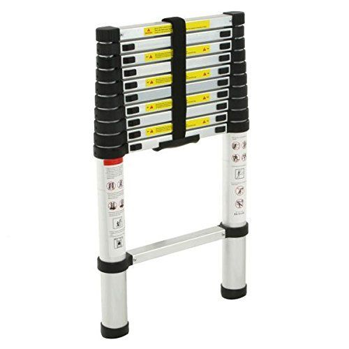 2.6M Portable Heavy Duty Multi-Purpose Aluminium Telescopic Ladder Extendable UK
