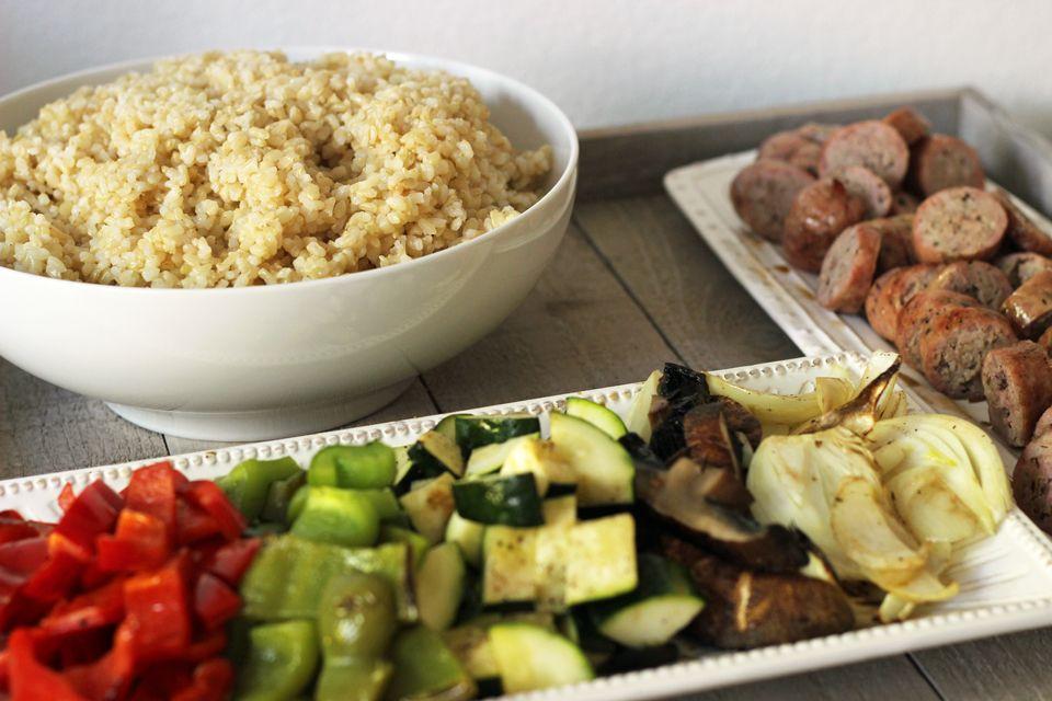 rice bowls -  Good Cheap Eats - quick healthy meals could sub quinoa