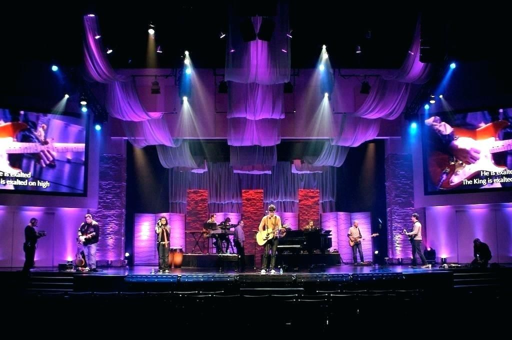 Affordable Church Stage Design Ideas Lighting