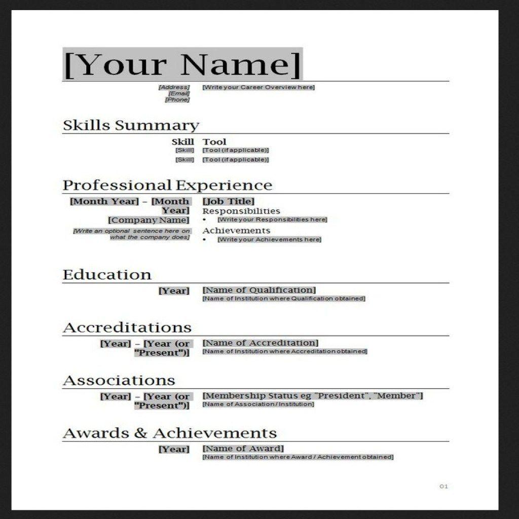Free Resume Templates Word cyberuse Great Free Resume