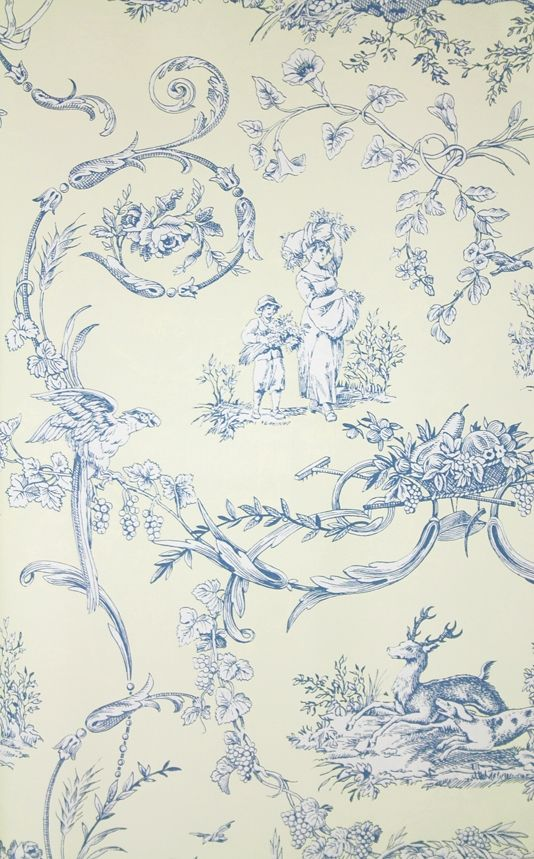 Paysannerie Toile Wallpaper Toile Wallpaper Toile French