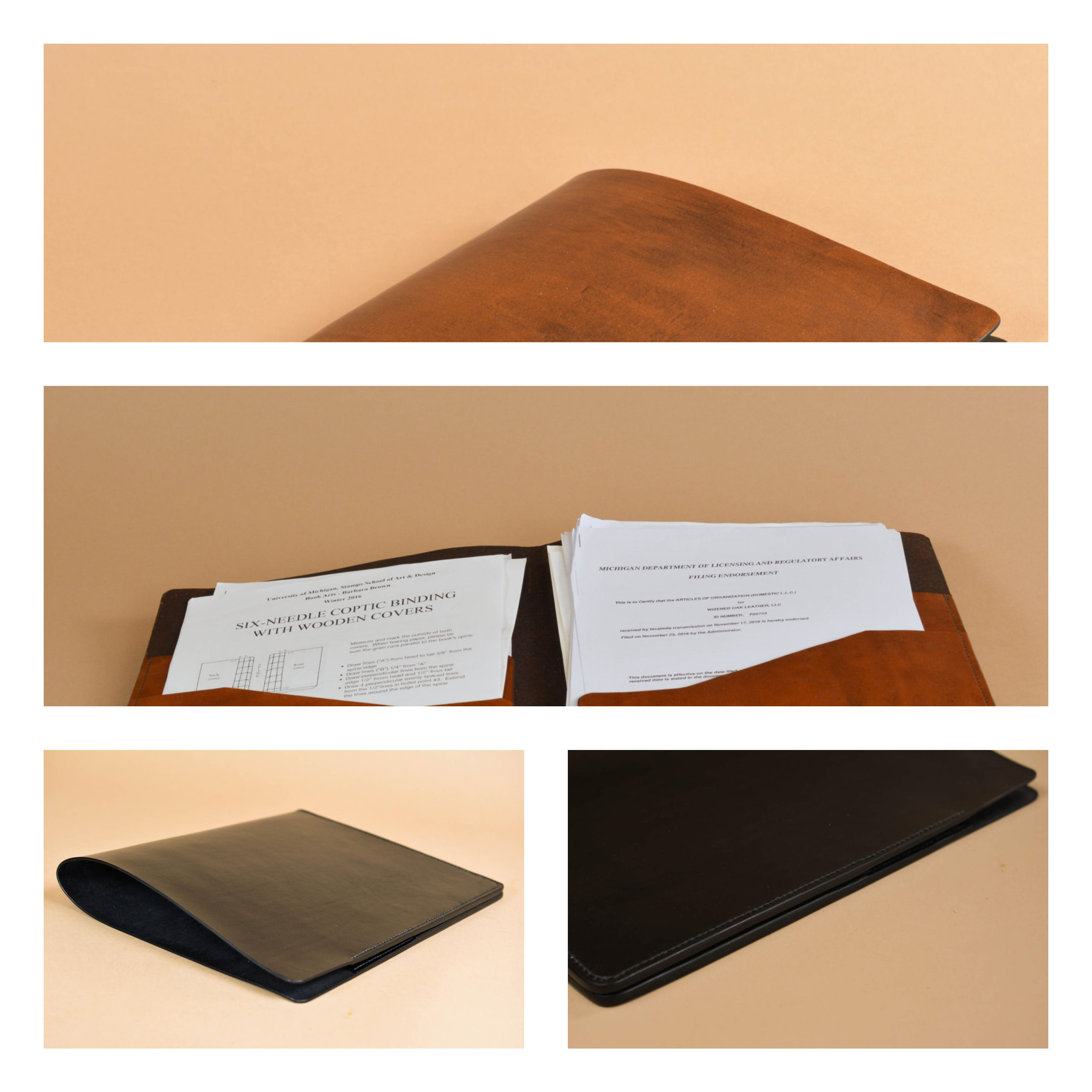 Leather presentation folder presentation folder leather