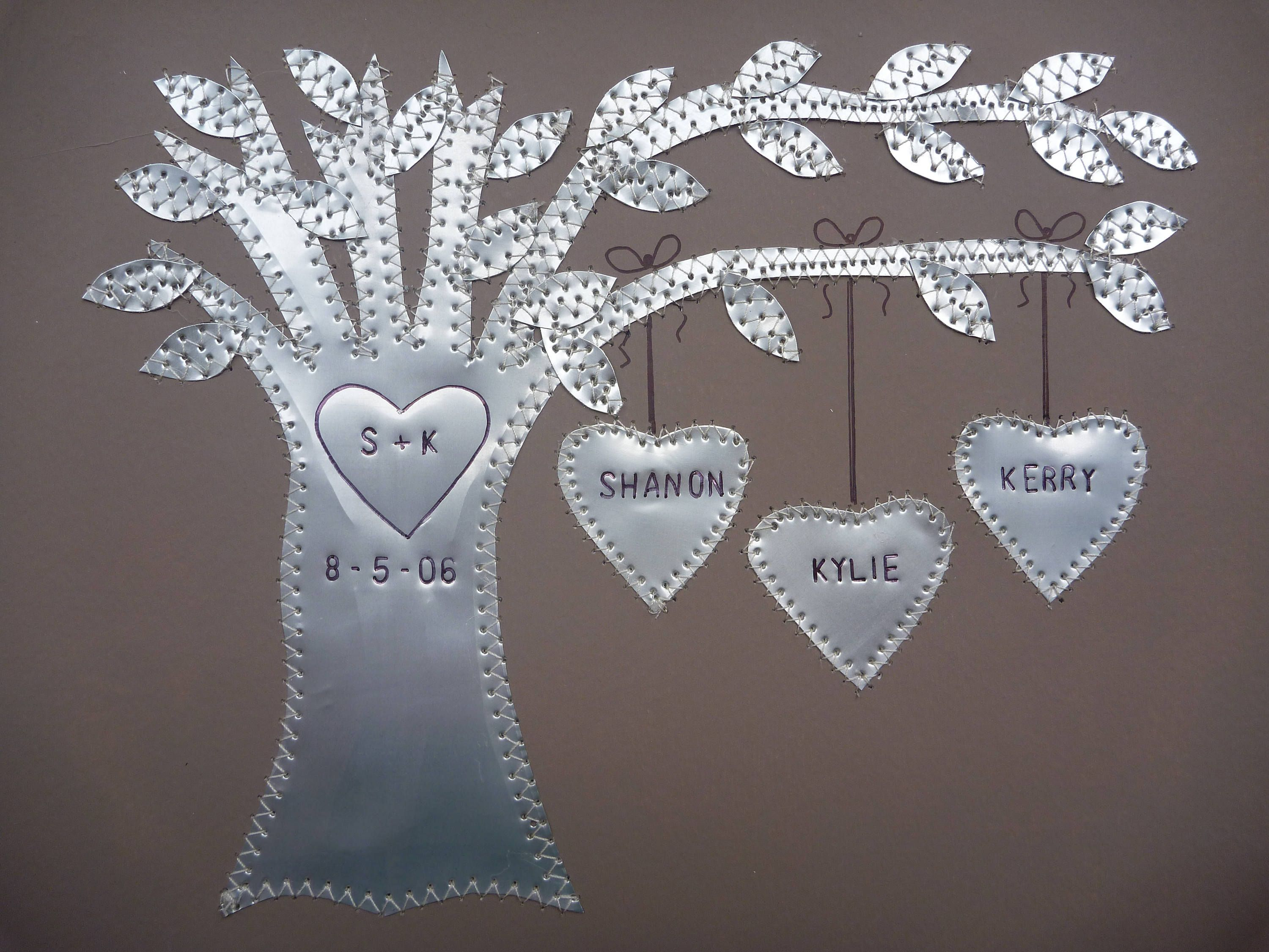 Ten anniversary gift year anniversary gift family tree