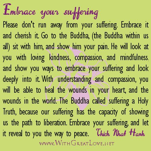 Healing quotes - Embrace your suffering   Asia Again   Pinterest ...