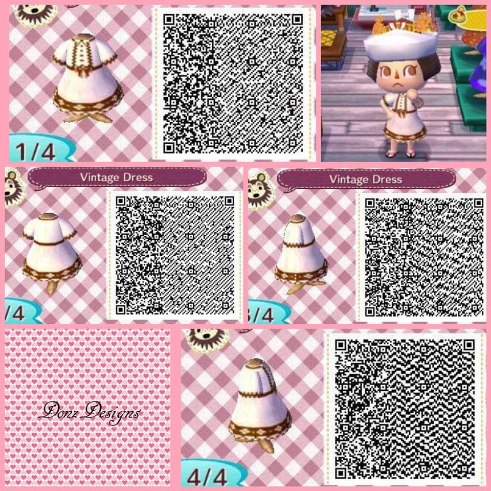 Vintage Dress By Donzdesigns Animal Crossing Qr Animal Crossing Animal Crossing Qr Codes Clothes