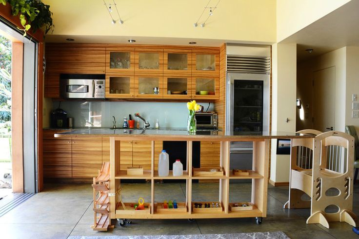 montessori at home low open shelves as room divider small spaces kitchen organization for on kitchen organization for small spaces id=88154