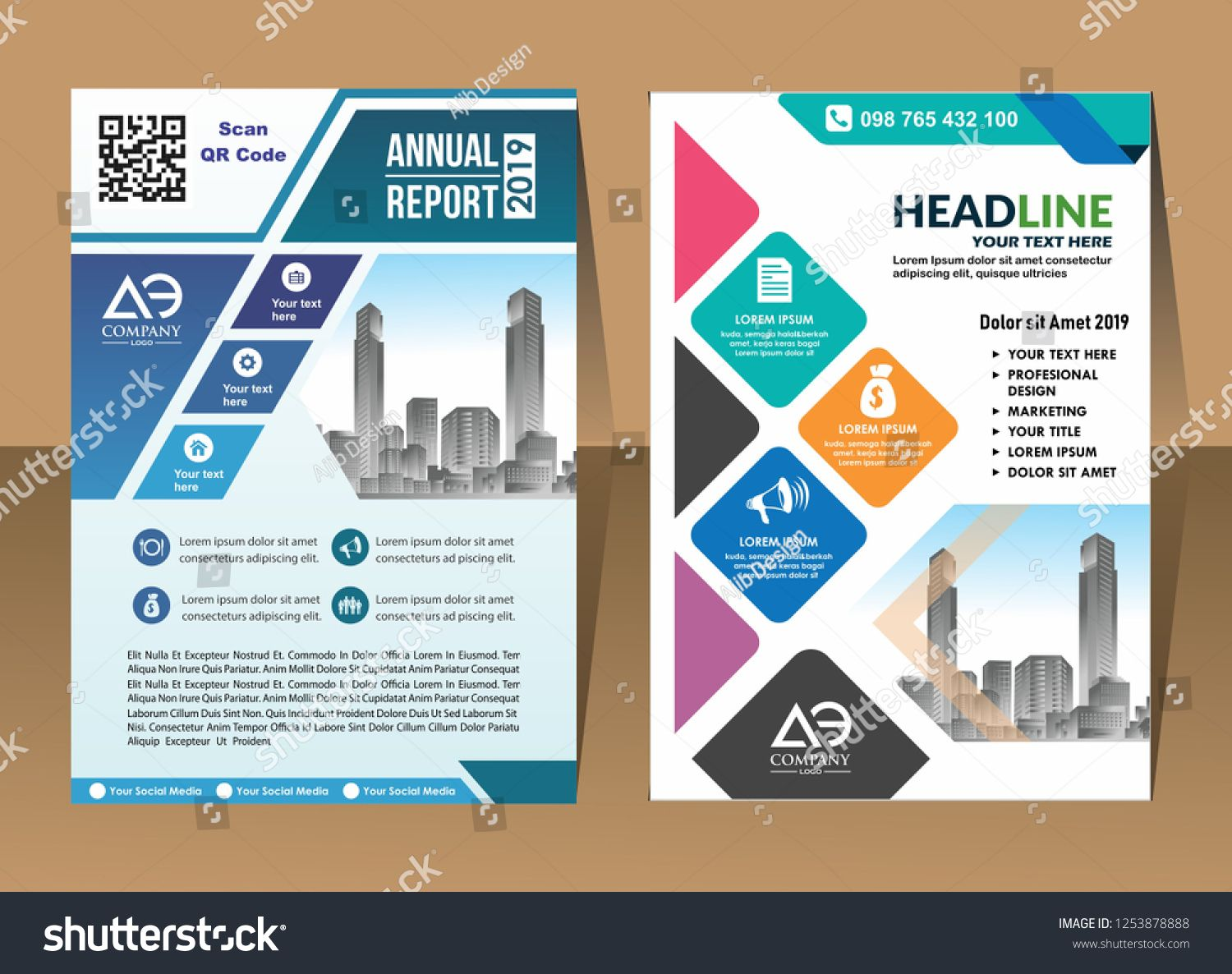 Corporate Flyer Layout Template With Elements And Placeholder For Picture Layout Flyer Corporate Template Corporate Flyer Marketing Design Layout Template