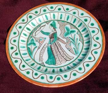 """Feast plate by Amata for """"courtly love"""" event"""