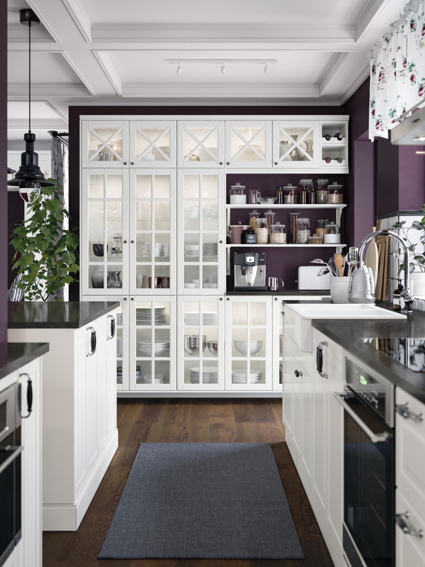 Bodbyn Glazen Deur Met Kruislat Ecru In 2019 Keukens Keuken