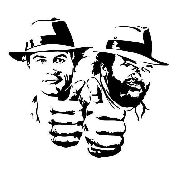 Bud Spencer And Terence Hill Airbrush Schablonen Airbrush Schablonen