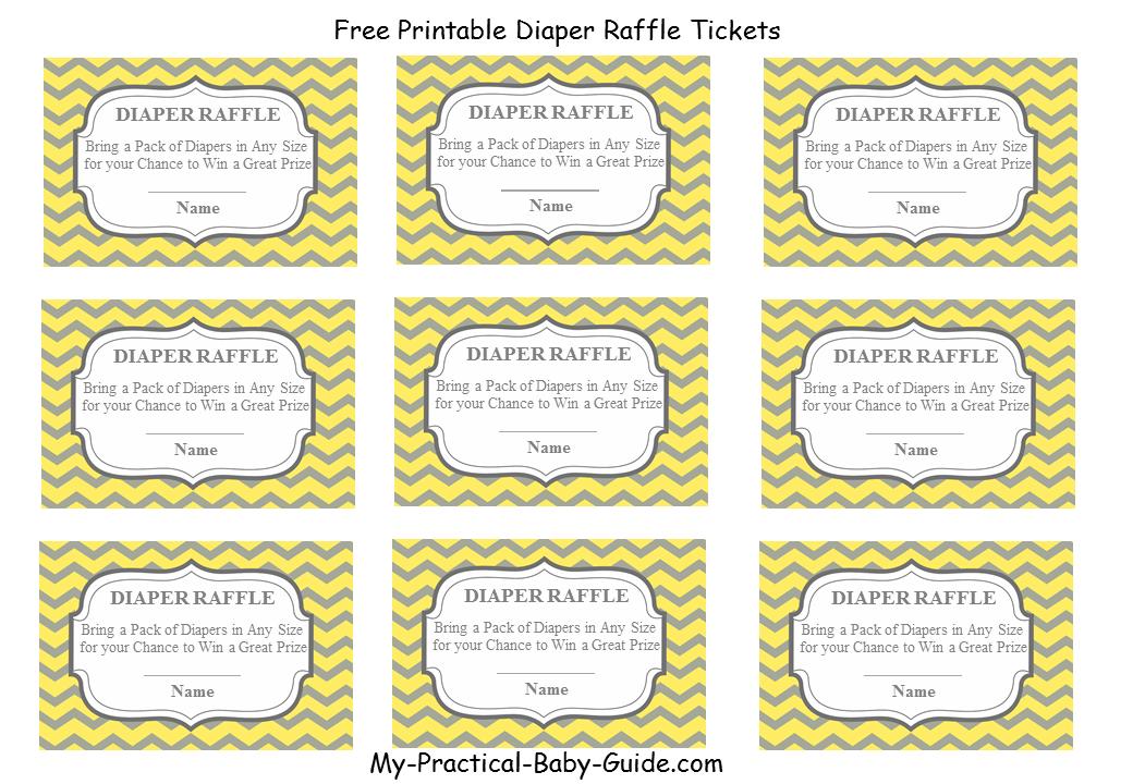 Free Printable Diaper Raffle Tickets My Practical Baby Shower Guide Free Printable Diaper Raffle Tickets Diaper Raffle Tickets Baby Shower Raffle