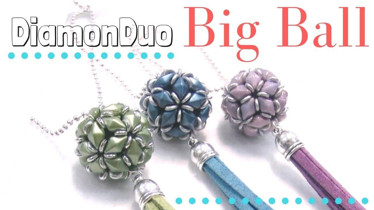 How to make a DiamonDuo Ball - Full tutorial with pattern Beading Ideas
