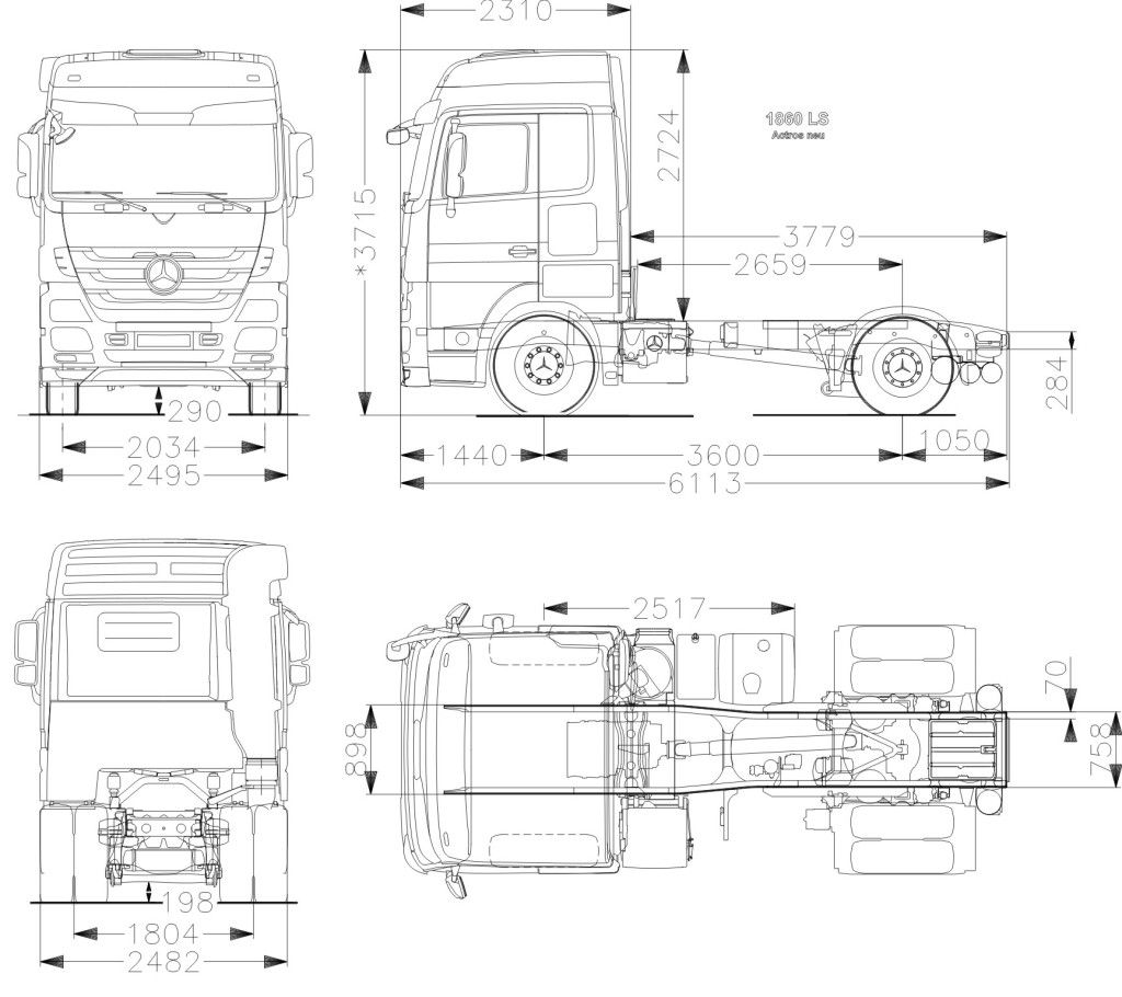 Mercedes Benz Actros Blueprint