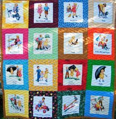 Fun With Dick and Jane quilt for Gala