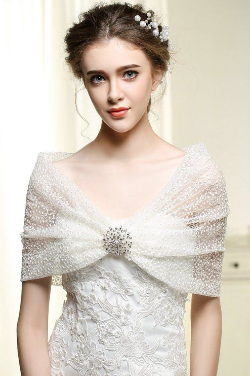 Nero Women S Wedding Wraps And Shawls For Bride Bridal Lace Bolero With Brooch M