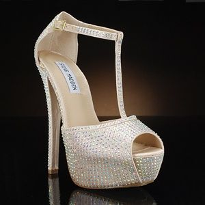 Steve Madden Angylna1 Champagne Wedding Shoes Sparkly Wedding Shoes Champagne Wedding Shoes Designer Wedding Shoes